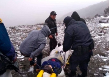 Accidente en Pico de Orizaba